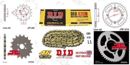 Honda XR75 K1-K5 74-78 DID Gold Chain Sprocket Kit 14//46t 420//100