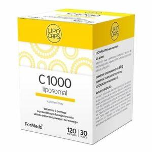 LIPOCAPS C1000, liposomal vitamin C, 120 capsules FORMEDS, FREE P&P