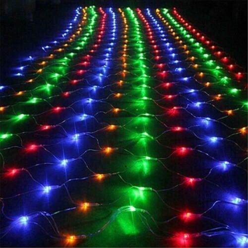 Mesh LED Light Net Fairy String Curtain Lights Party Wedding Xmas Decor 1.5//3M