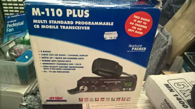 INTEK M-110 PLUS FM/AM MOBILE CB RADIO