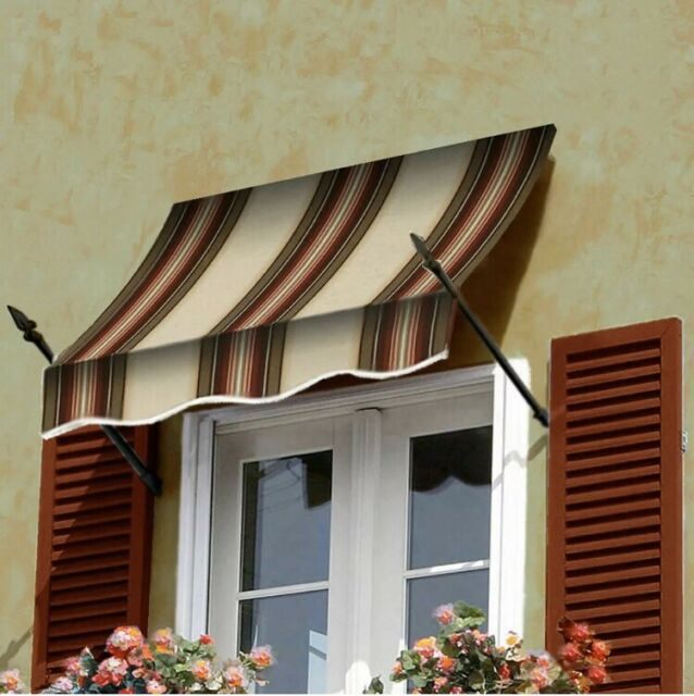 """Awntech 6' New Orleans Window/Entry Awning, 56"""" x 32 ..."""