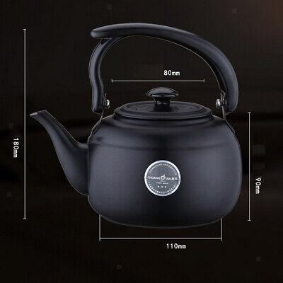 1L Home Kitchen Stainless Steel Teapot Tea Kettle Stovetop Tea Pot Black