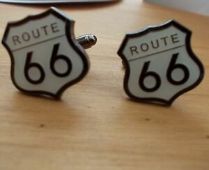 ROUTE 66 BIKER CUFFLINKS FOR WEDDING STAG NIGHT - <span itemprop='availableAtOrFrom'>Mold, United Kingdom</span> - ROUTE 66 BIKER CUFFLINKS FOR WEDDING STAG NIGHT - Mold, United Kingdom