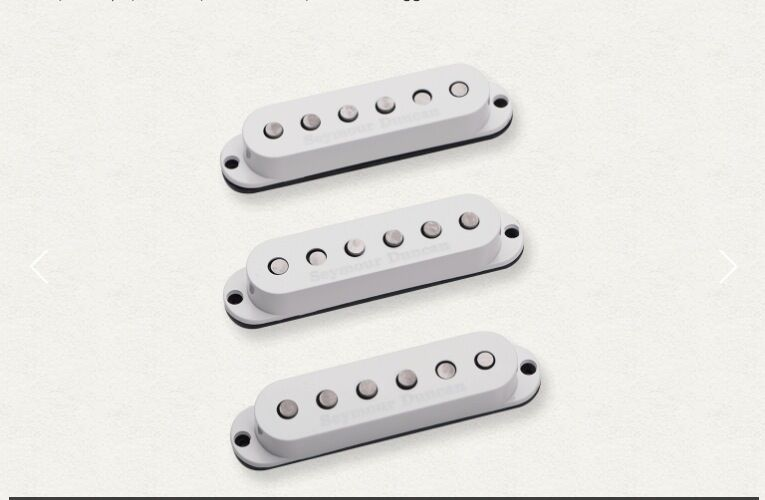 SEYMOUR DUNCAN CUSTOM STAGGEROT STRAT CALIBRATED SET LEFT SSL-5 Weiß