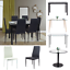 Glass-Dining-Table-PU-Leather-Chairs-Dining-Table-Kitchen-White-Black thumbnail 1