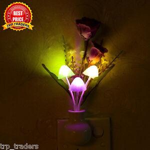 Image Is Loading LED Mushroom Colorful Night Light Romantic Lamp Home