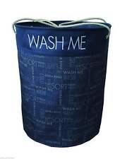 Laundry baskets bins ebay for Navy bathroom bin