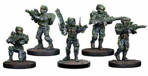 Mantic-Warpath-hipertelorismo-embrionario-primario-5-Ranger-francotirador-Tanque-Hunter-equipo-sin