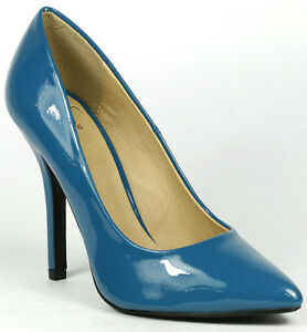 Dark-Teal-Blue-Patent-Classic-Pointy-Toe-High-Stiletto-Heel-Pump-Delicious-Date