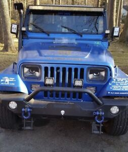 Image Is Loading 1987 1995 Jeep Wrangler YJ Angry Eyes Decal