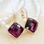 18K-Rose-Gold-GF-13mm-Fashion-Square-CRYSTAL-Hoop-Huggie-Earrings-Multi-Color thumbnail 5