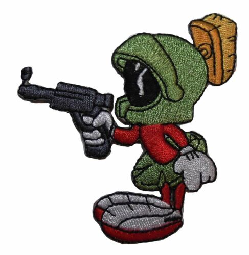Looney Tunes Marvin the Martian w// Gun Iron-on//Sew-on Embroidered PATCH