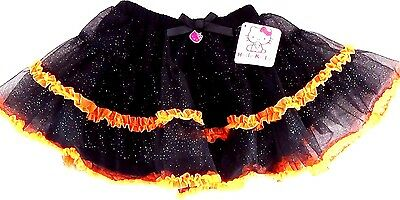85dff87638 Sanrio Hello Kitty Halloween Orange Tulle Glitter Shimmer Skirt Costume