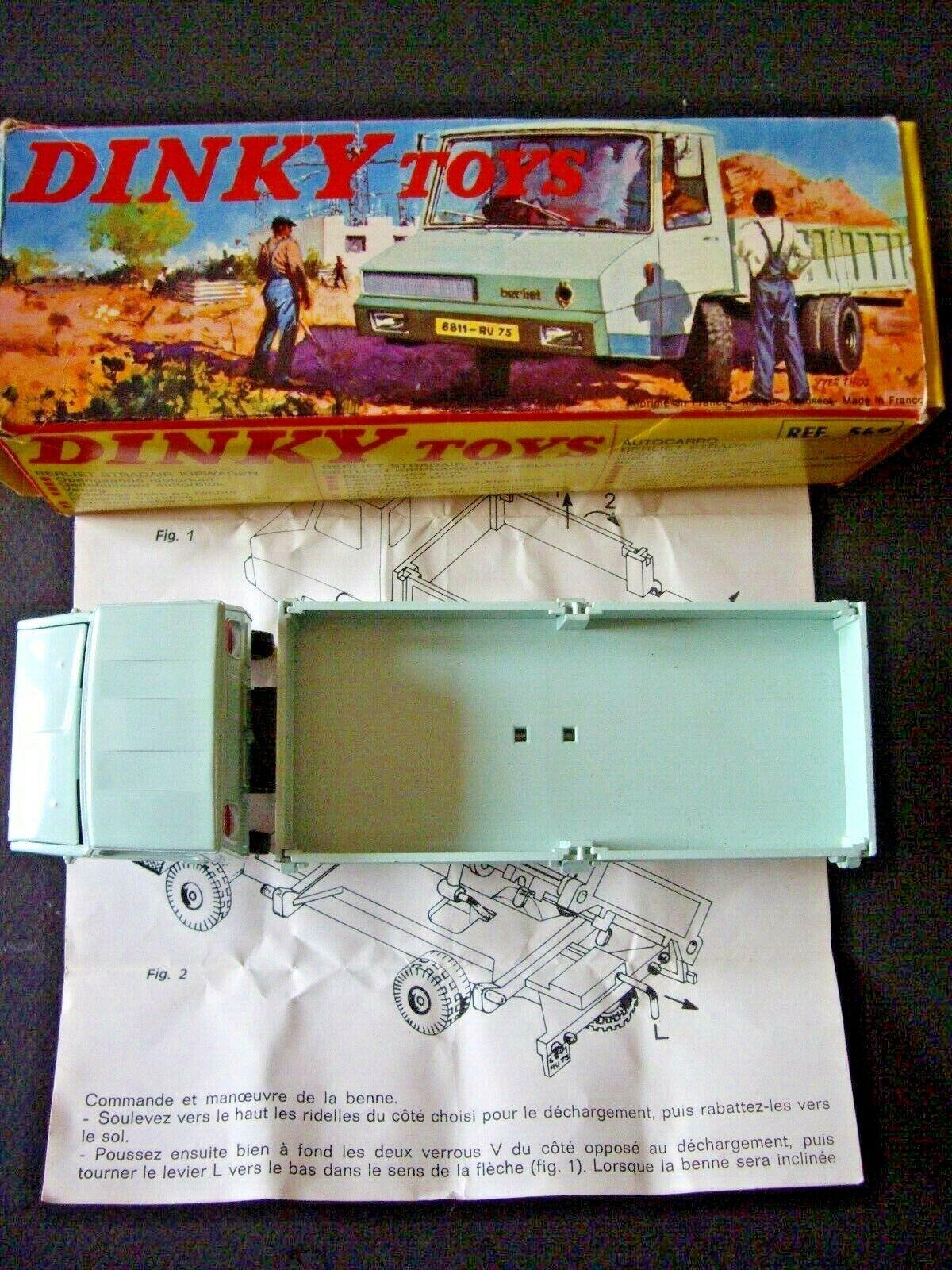 DINKY TOYS Ref 569 BERLIET STRADAIR + BOITE D'ORIGINE + NOTICE