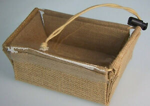 5-x-Flat-Pack-Jute-Display-Christmas-Gift-Hamper-Presentation-Box-13-x-9-x-6cm
