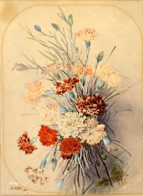 Replica Art Watercolour Picture Flower Painting by Adolf Hitler Framed Print
