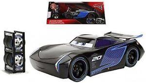 CARS-3-JACKSON-STORM-with-TIRE-RACK-Jada-Toys-Disney-Pixar-1-24