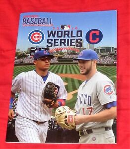 cubs indians series baseball chicago limited program magazine