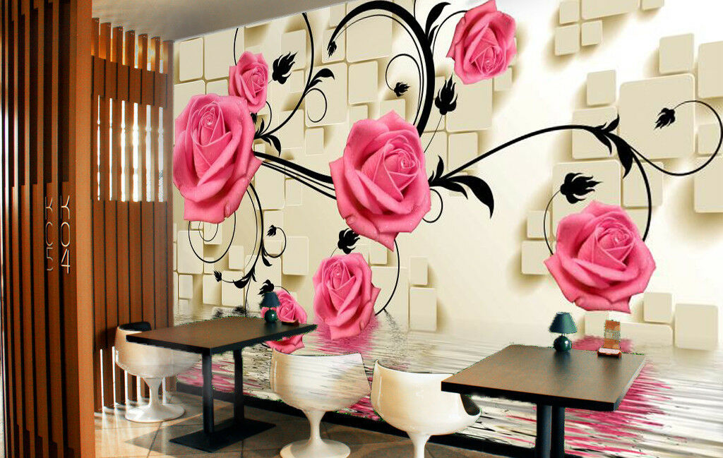 3D Petal Bloom 517 Wallpaper Murals Wall Print Wallpaper Mural AJ WALL UK Summer