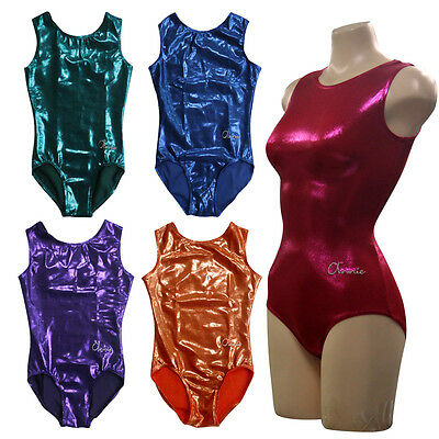 KYoon's Gymnastics foil 4way sleeveless leotard collection Vol.1 add.Scrunchie