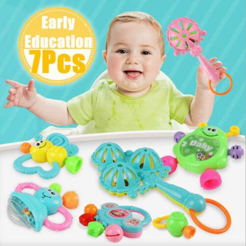 7 tlg//Set Baby Fun Rassel Beißring Spielzeug Kleinkindspielzeug Neugeborenen Neu