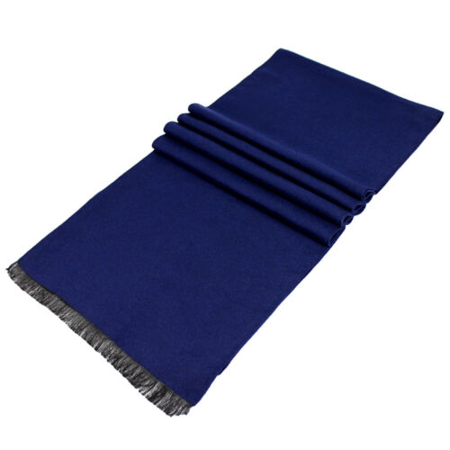 Men Cashmere Scarf Solid Color Winter Tassel Long Scarf Wraps Shawl Xmas Gift UK