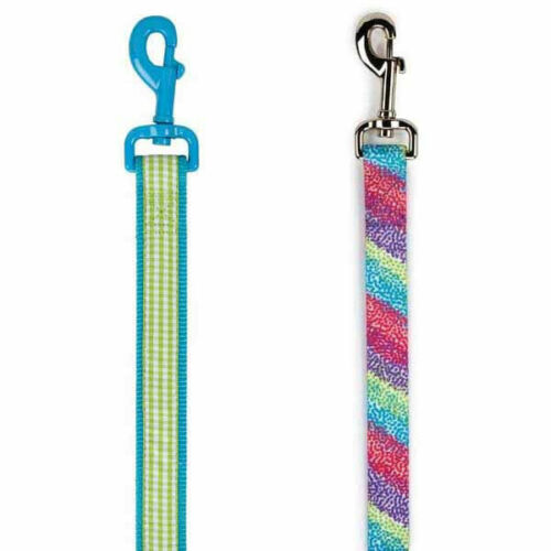 East Side Collection Gingham Sweetie or Confetti Rasberry 4/' DOG Leash Lead NEW