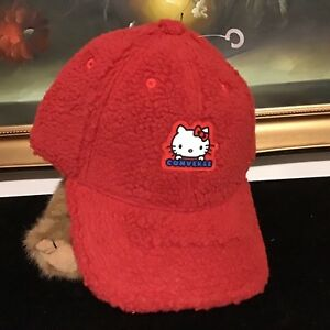 NWT Converse x Hello Kitty unisex Dad Hat Fiery Red Sherpa Baseball ... 3283cfe74dca