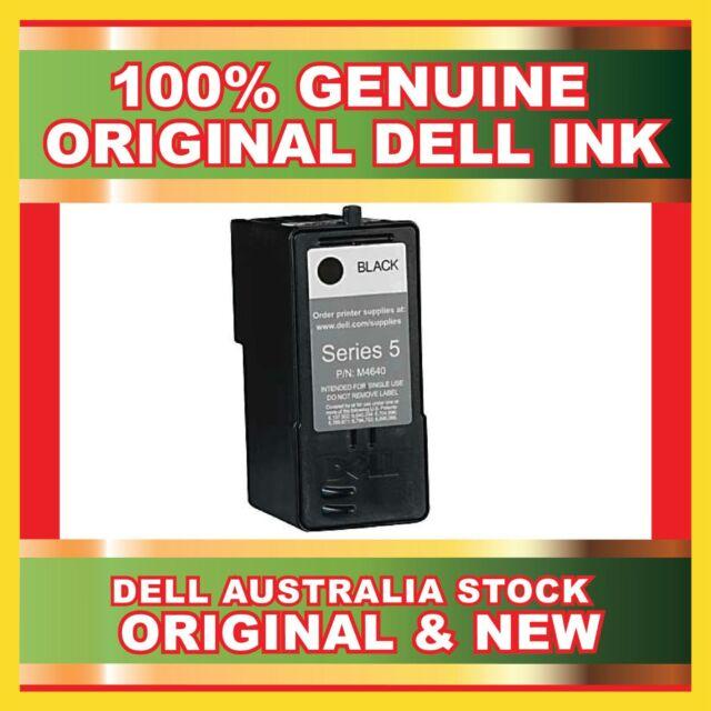 2 X Genuine Dell Original Series 5 M4640 Black Ink Cartridge New