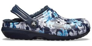 ae847b4a14115 Image is loading Crocs-Classic-Lined-Graphic-II-Clog-Lavender-Navy