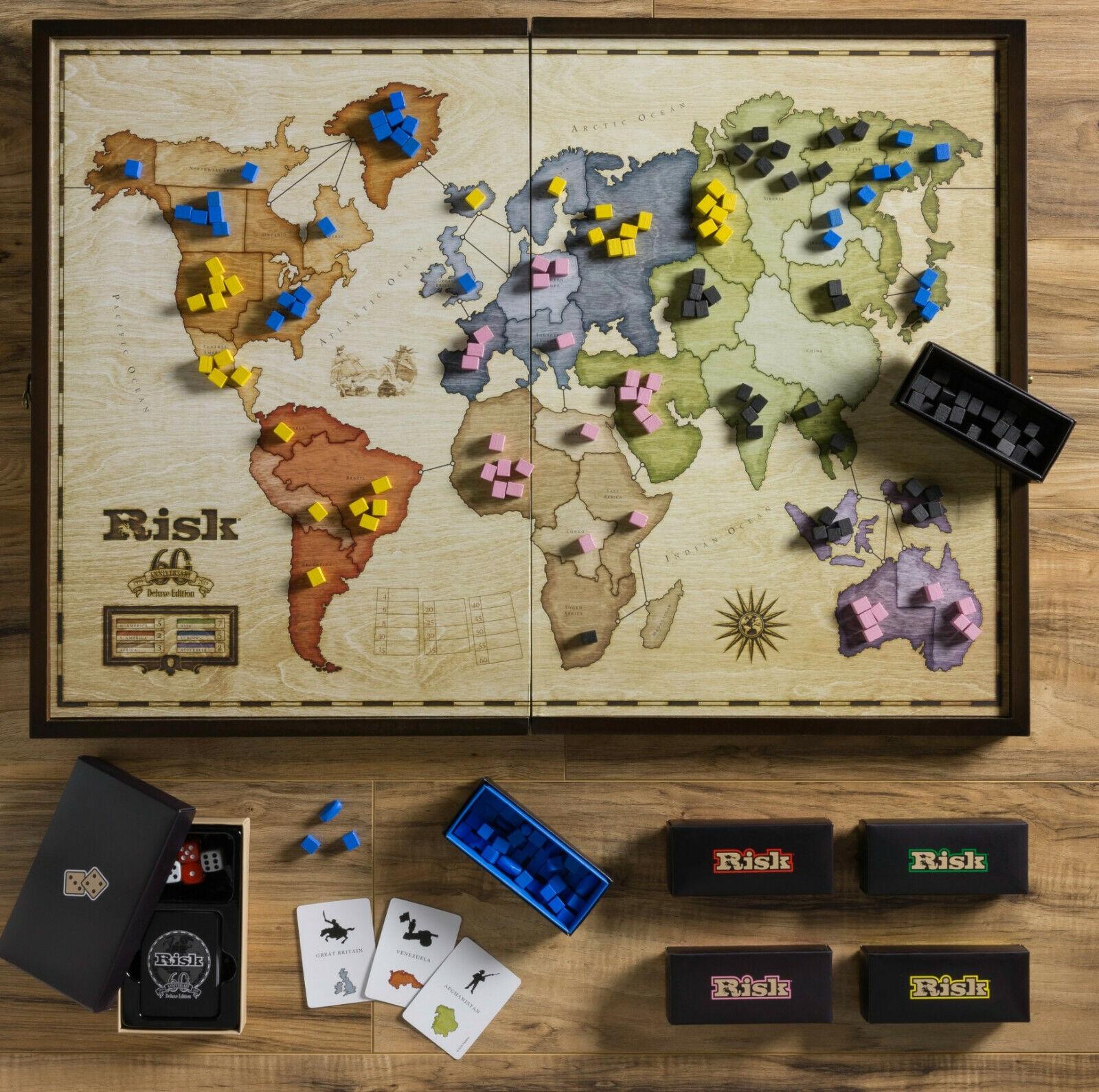 Winning Solutions Risk 60th  Anniversary Deluxe edizione Wooden tavola gioco  perfezionare