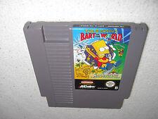 Simpsons Bart vs the World NES Spiel nur das Modul