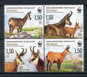 Bosnia-amp-Herzegovina-2017-MNH-Chamois-WWF-4v-Block-Deer-Wild-Animals-Stamps
