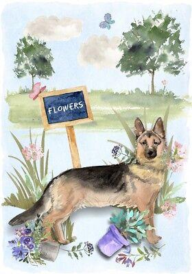 German Shepherd Dog//Alsatian Blank Card 14 by Starprint