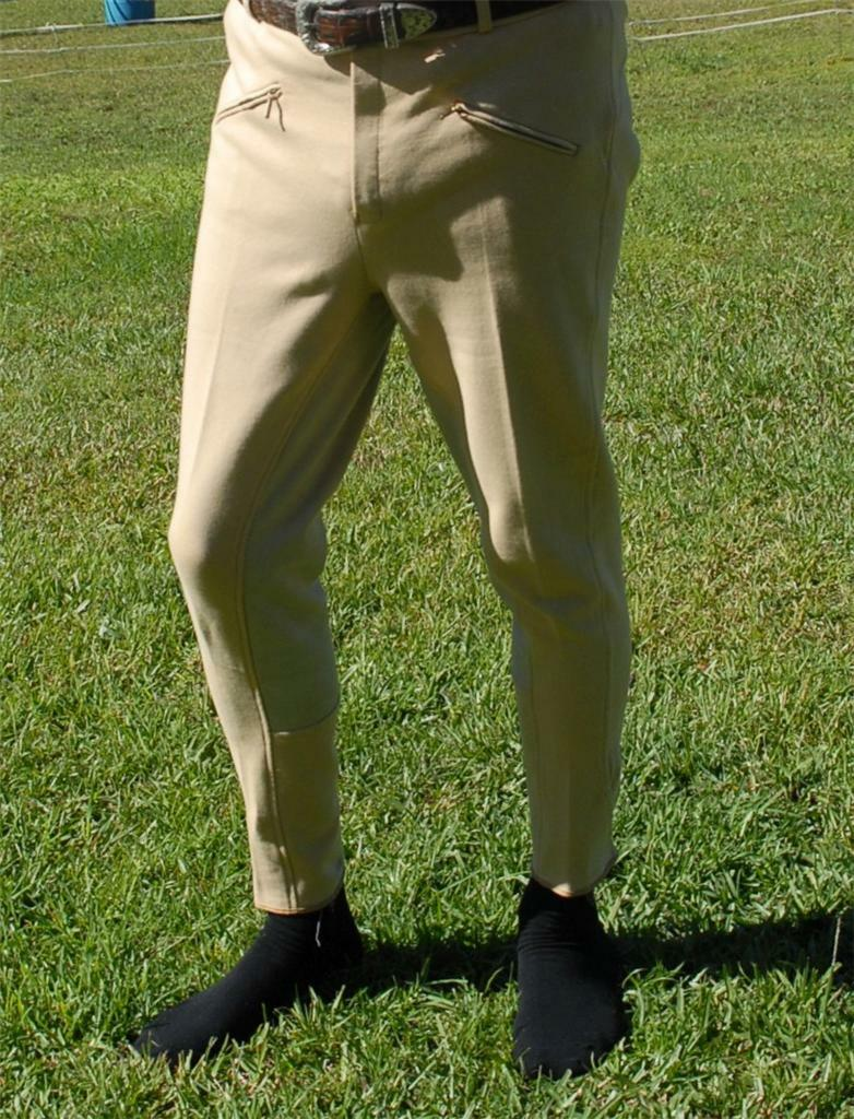 Mens Horse riding Pants Jodhpurs Jods Breeches Beige size 32 34 36 All Purpouse