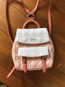 5cac83eebab2 Image is loading Christian-Dior-Women-039-s-Leather-Backpack-In-