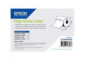Epson-Rouleau-d-039-etiquettes-c33s045538-papier-ordinaire-102mm-x-33m-brillante