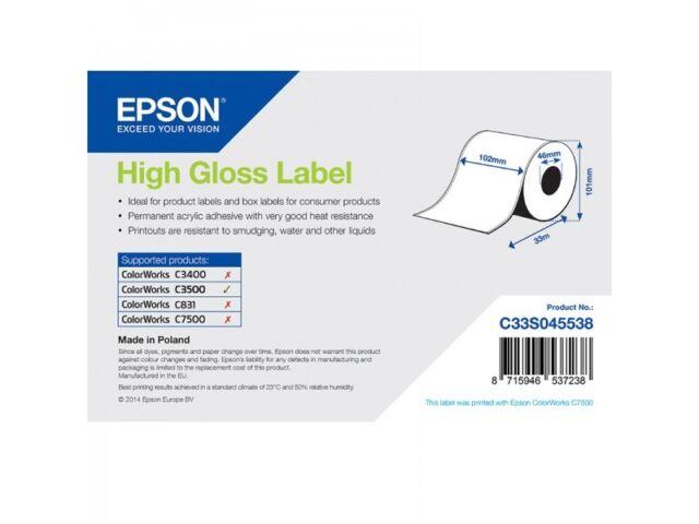 Epson Label roll C33S045538 Plain paper 102mm x 33m shiny