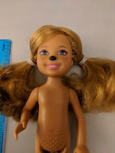 Barbie-Little-Sister-Chelsea-5-5-034-Doll-Painted-Animal-Nose-amp-Whiskers-Nude