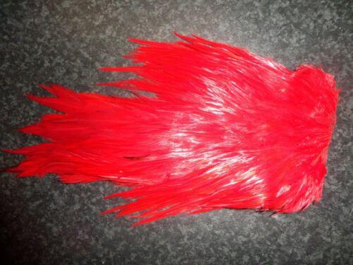 Irish Fly Fournitures intérieur rouge intense Cock Selle Cape 100/% Irlandais.