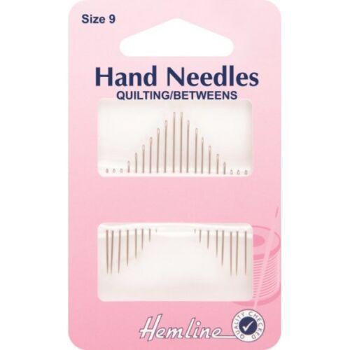 Hemline Quilting Betweens Hand Sewing Needles In Various Sizes
