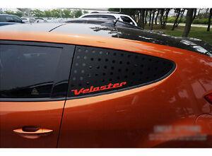 Window-Glass-Sports-C-Pillar-Plate-Black-Red-For-11-17-Hyundai-Veloster-amp-Turbo