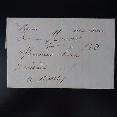 1710 Lettre Cover Rouen / Échantillons Manuscrit + Port 20 (trÈs ÉlevÉ) -> Reims En Om Een Lang Leven Te Hebben.