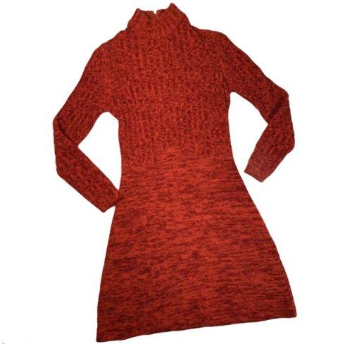 RONCELLI Vintage 60's sz Med Orange Red Wool Bouc… - image 1