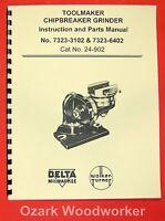Delta Toolmaker Chip Grinder Instruction & Parts Manual 0220