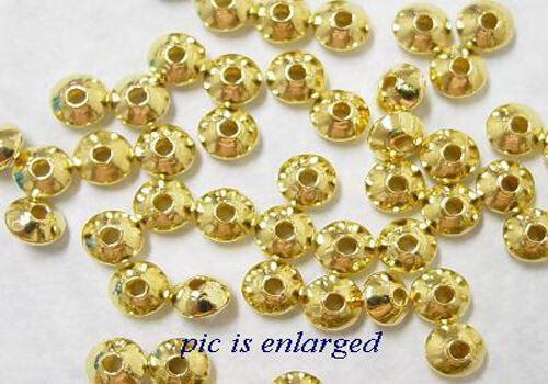 100 Gold Plated Rondelle Spacer Beads 5MM
