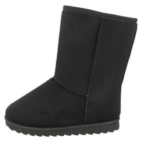 Girls Spot On Mid Leg Fleeced Lined Boots H4R141