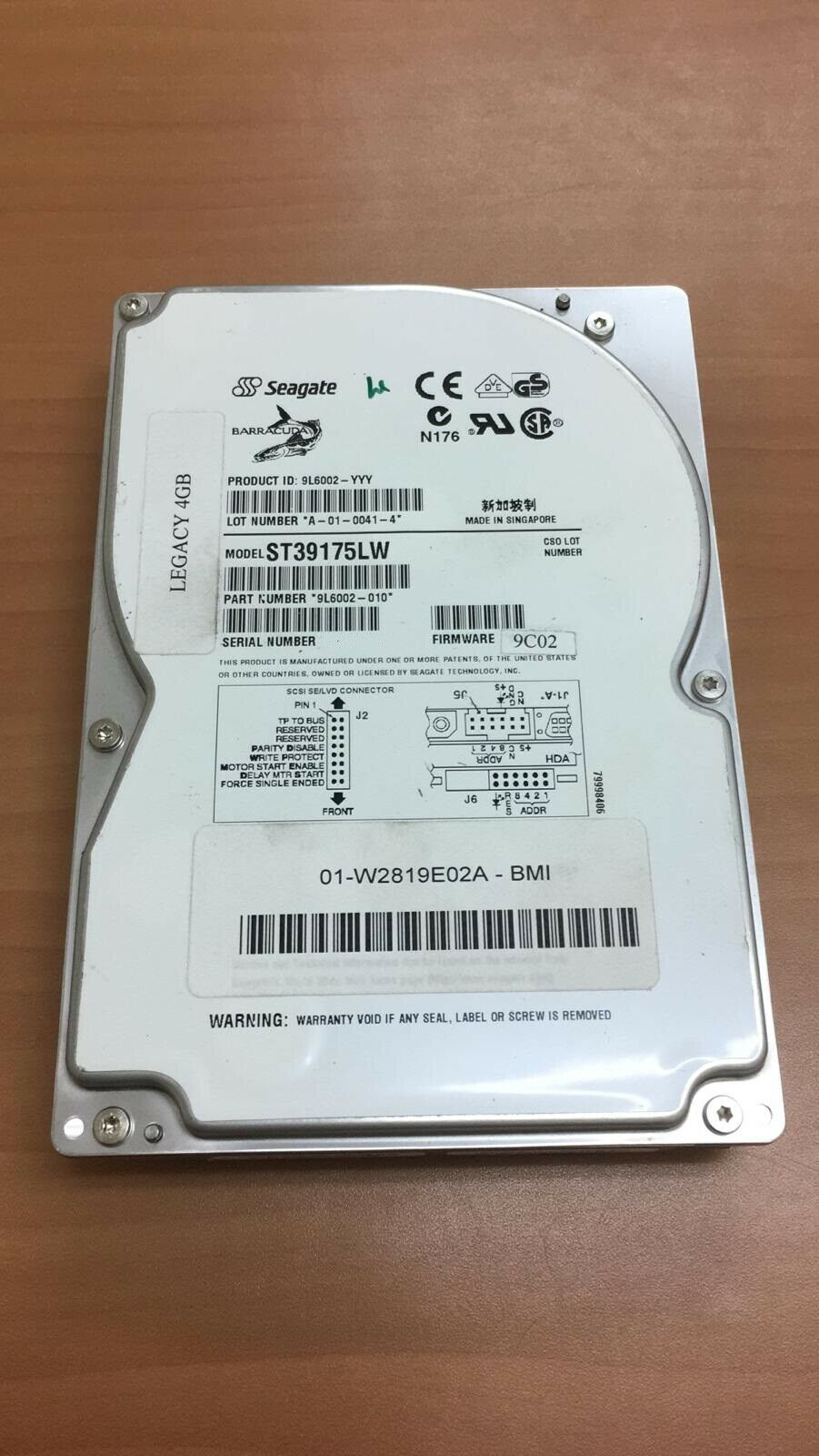 3PCS Seagate Barracuda ST39175LW 9L6002-010