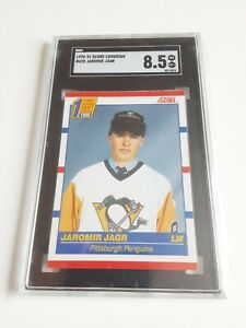1990-91-Score-Canadian-Jaromir-Jagr-Rookie-Rc-428-Graded-8-5-NM-SGC-L-K