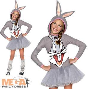 Image is loading Bugs-Bunny-Girls-Fancy-Dress-Rabbit-Looney-Tune-  sc 1 st  eBay & Bugs Bunny Girls Fancy Dress Rabbit Looney Tune Cartoon Kids ...